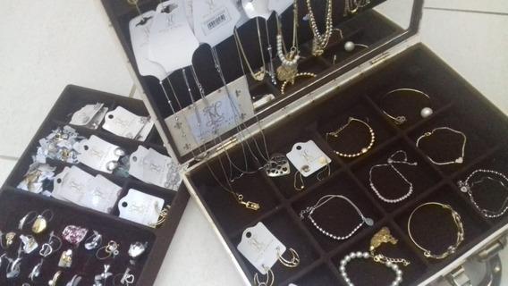 Jóias Folheadas A Ouro 18k Maleta Atacado Queima De Estoque