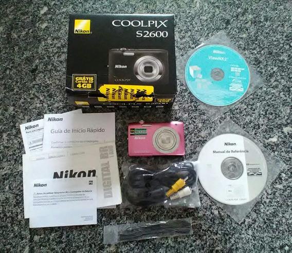 Câmera Fotográfica Digital Nikon Coolpix S2600!