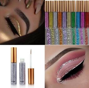 Delineador Com Glitter Metalizado, Mulheres Maquiagem 3 Pcs