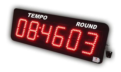 Imagem 1 de 7 de Cronômetro Digital Leds Com 6 Dígitos Com Controle 58x19cm