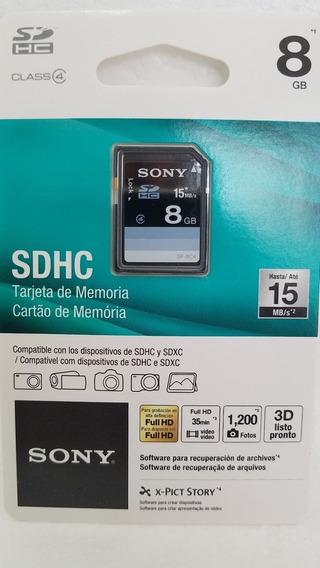 Cartão De Memoria 8gb Sdhc Sony Embalagem Lacrada (blister)