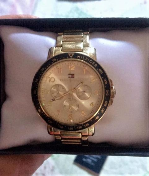 Relógio Tommy Hilfiger Feminino Aço Dourado Original
