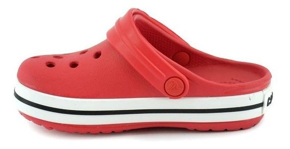 Crocs Crocband Rojo Banda Blanca Niños Ñiñas Kids Original