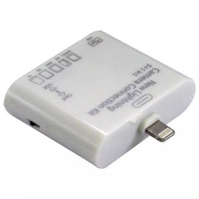 2 Adaptador Leitor 5x1 Usb Cartão Sd Apple iPad 4 Mini 8pin