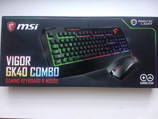 Combo Gamer Teclado Mouse Msi Vigor Gk40 Us