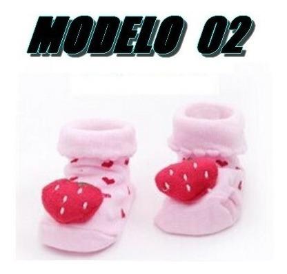 Meias Para Bebê Estilo Pantufas De 3 A 6 Meses Modelo 02