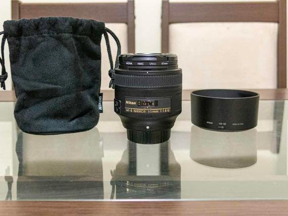 Lente Nikon Af 85mm F/1.8g Praticamente Nova