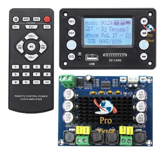 Kit Decodificador Mp3 Bluetooth+amplificador Estéreo 2x120w