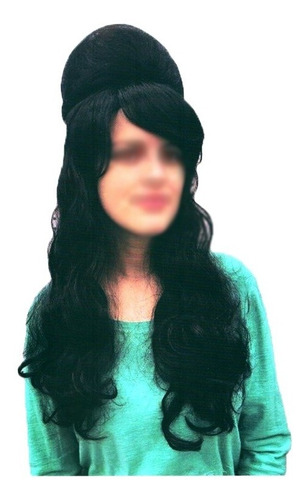 Peruca Luxo Anos 60 Amy Winehouse Para Adulto