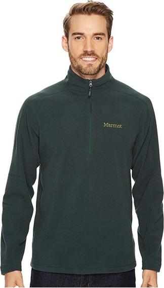 Suéter Polar Marmot Rocklin 1/2 Zip Verde M Y L Hombre