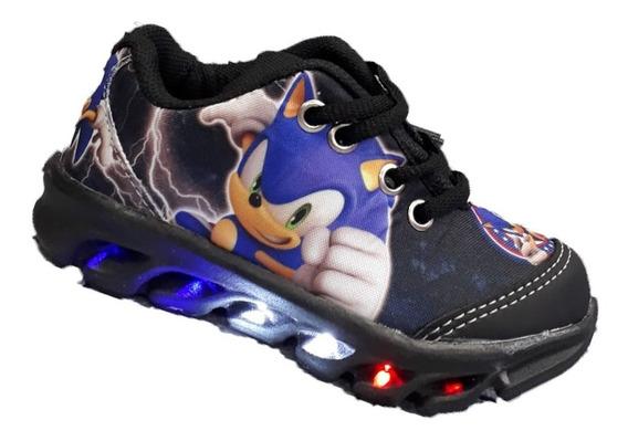 Tênis De Led Sonic Infantil Menino Promoção