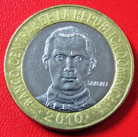 República Dominicana Moneda Bimetalica 5 Peso 2010 Km #89