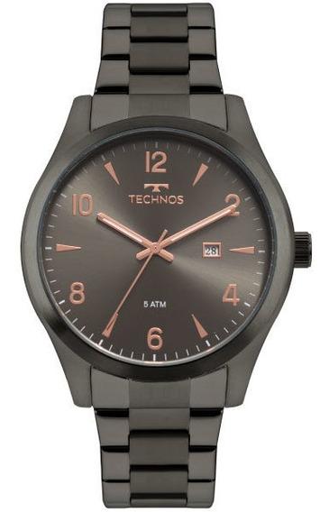 Relógio Technos 2115mry/4c Masculino Preto/rosê Aço Esporte