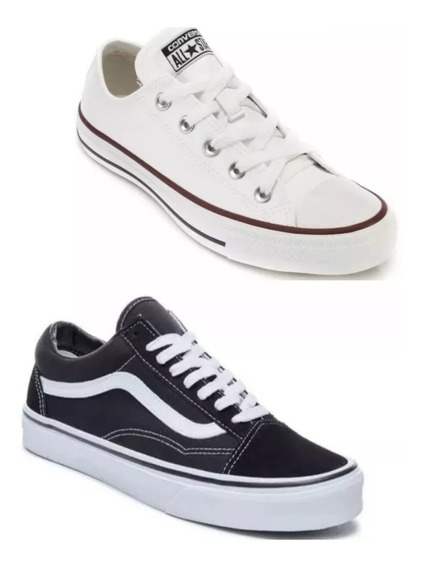 Combo C/2 Pares Tênis Mulher All Star + Vanns Hiper Barato