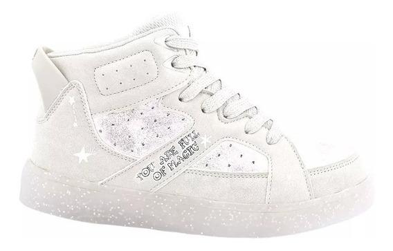 Botitas Footy Blancas Gamusa Y Glitter Fty Calzados 30 Al 37