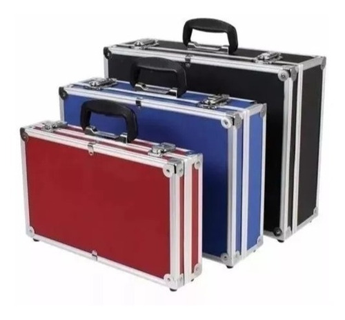 Imagen 1 de 7 de Maletin Caja De Herramientas Set X 3 Aluminio Reforzados 3 Colores Resistentes Instrumental