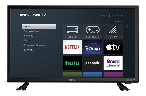 Onn Smart Tv Led Roku De Alta Definición De 24   720p