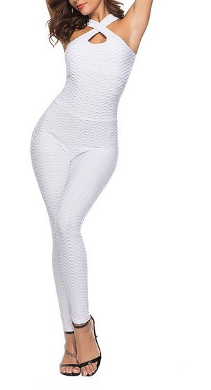 Enterizo Sin Espalda Fitness Yoga Anticelulitis Jumpsuit Gym