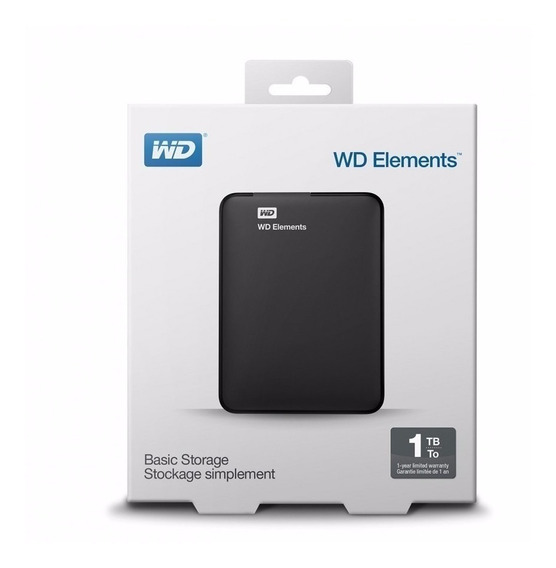 Hd 1tb Western Elements Digital Usb 3.0 Externo Ps4 E Xbox