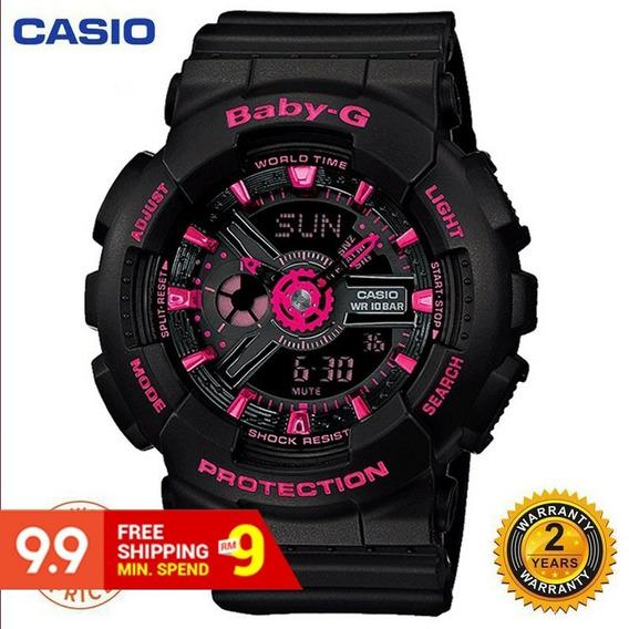 Novo - Em Alta - Relógio Esportivo Black Pink Casio Baby-g B