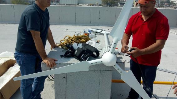 Generador Eolico 2000wts Con Inversor Regresar Luz A Cfe