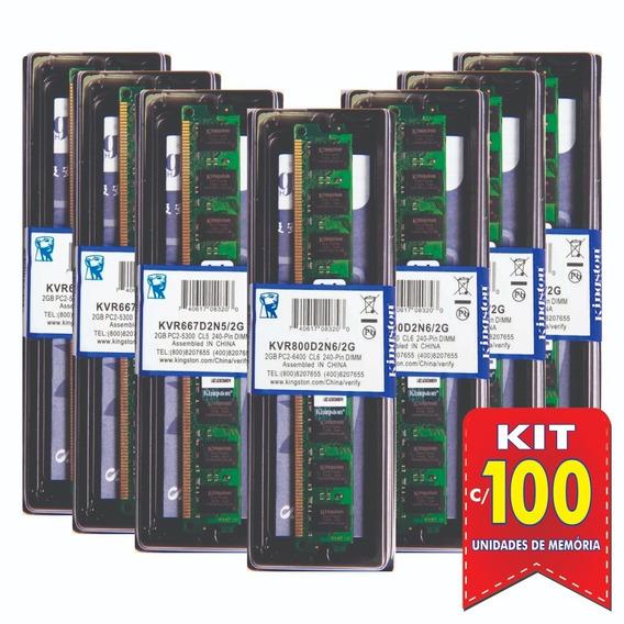 Memória Kingston Ddr2 2gb 800 Ou 667 Mhz Desktop Kit C/100