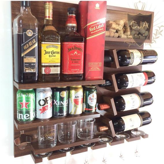 Bar Parede Adega ( Com Abridor )100% Mdf Produto Original