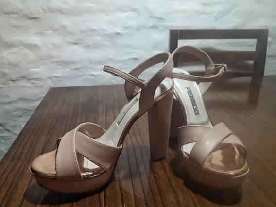 Vendo Zapatos Via Marte Talle 38 Color Rosa Pastel
