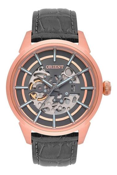 Relógio Orient Masculino Esqueleto Automático Nh7rc001 G1gx