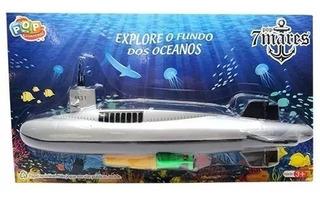 Mini Barco Submarino À Pilha Flutua Dentro Da Agua Brinquedo