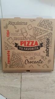 Caja Para Pizza De 33 X 33 Marron Impresa Generica