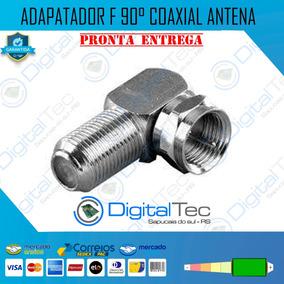 Adaptador Antena 90 Graus Tv Tipo L Coaxial F