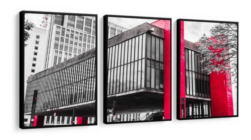 Quadro Decorativo Museu De Artes Em São Paulo Masp Com Vidro