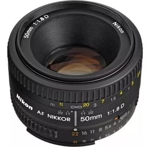 Lente Nikon Af Nikkor 50mm F/1.8d Com Funguinho Numa Borda