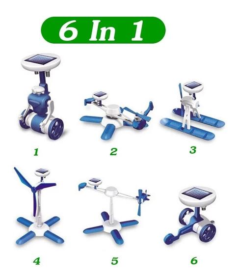 Robô Solar 6 Em 1 Fácil Montagem Kit Educacional Presente