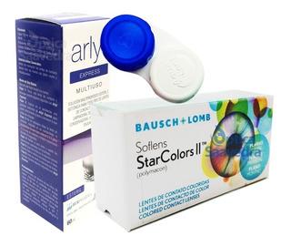 Star Color Ii Lentes Contacto Soflens + Aqualent 60 +estuche