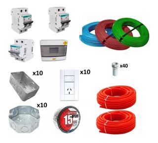 Kit Instalación Eléctrica Domiciliaria Cable Jeluz Full!!!