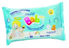 Lenços Umedecidos Para Bebês Muriel Meninos C/50 Unidades