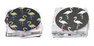 2 Pcs Flamingo Adesivo Almofada Adesivo Papel Diy Decoraçã