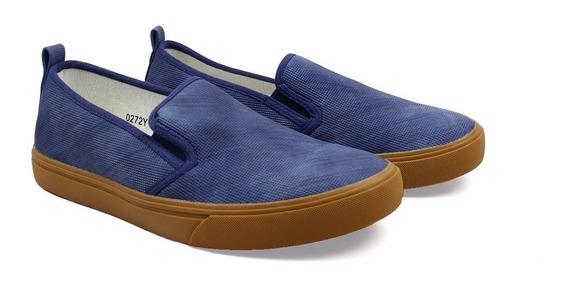 Zapatos Synergy Slip On Picado Azul 0272y