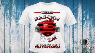 Camiseta Do Flamengo - Lendas Nascem Em Novembro A700