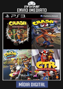 Crash Bandicoot 4 Em 1 (crash 1, 2, 4 E Ctr) Psn Ps3