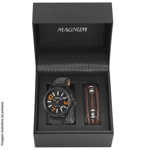 Relógio Magnum Masculino Ma34370c + Pulseira