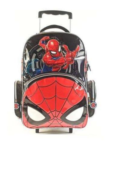 Mochila Carrito Spiderman 18 Pulgadas Mmk 62313