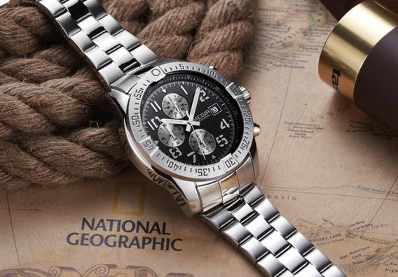Relógio Masculino Social Aço Inoxidável Super Promoção !!!