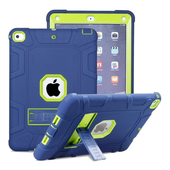Case Para iPad À Prova De Choque Navy-green
