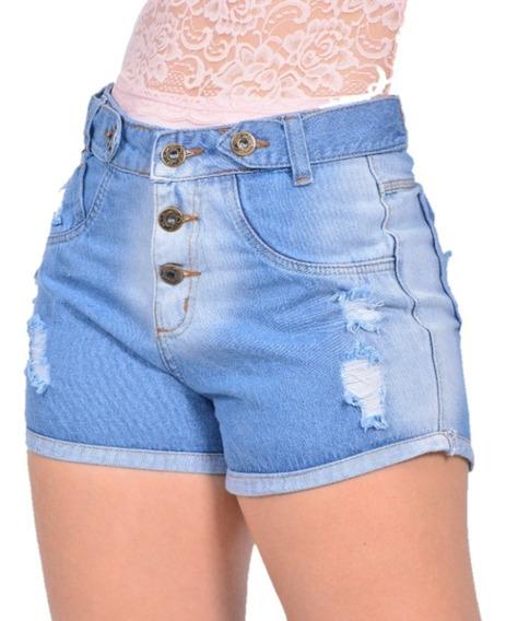 Promoção Kit 4 Sexy Shorts Jeans Feminino Hot Pants Cintura Alta Destroyed 18 Modelos Atacado Revenda Preço De Fábrica
