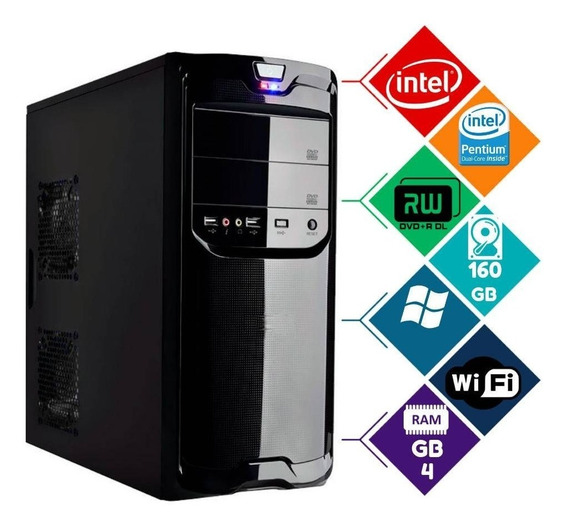 Cpu Gamer Barato Core2 4gb Wifi Autcad Corel Pb Lol Pb Truck