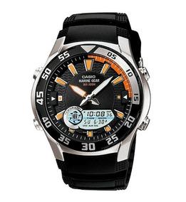 Relógio Casio Anadigi Náutico Amw-710-1avdf Caixa De Aço