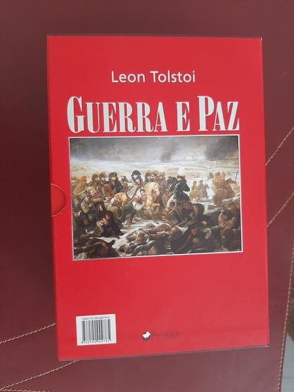 Livro Guerra E Paz Prestígio Leon Tolstoi 3 Volumes Luxo